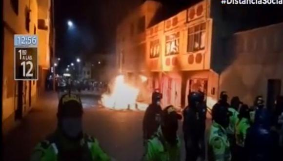 El hecho ocurrió en el barrio llamado Cerro Colorado, en la ciudad de Juliaca | Foto: Captura de video / Canal N