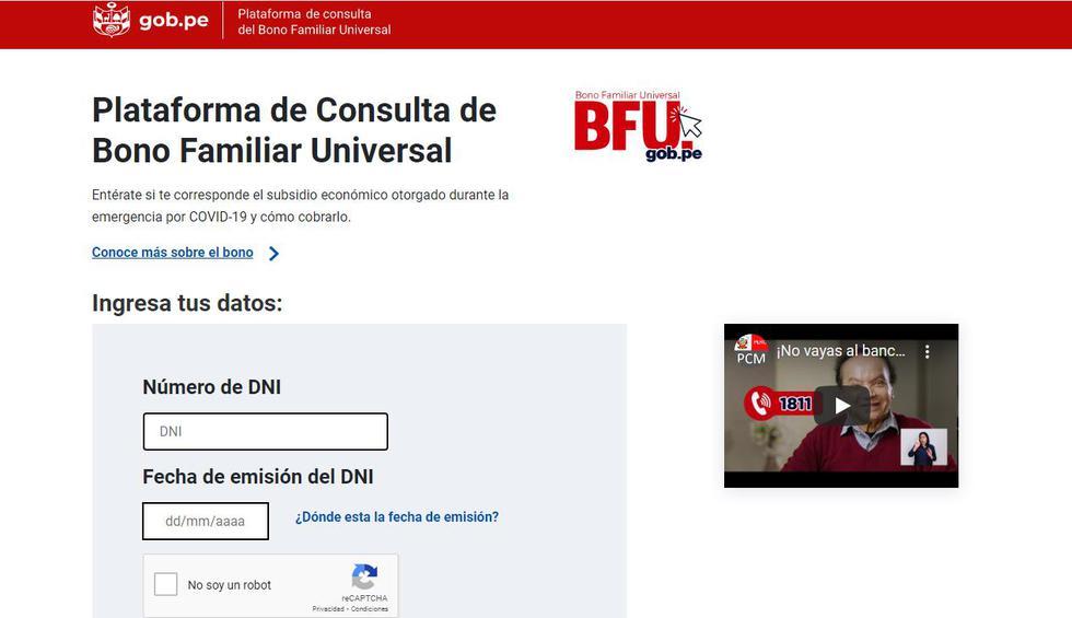 Bono BFU: Consulta aquí todas las modalidades y requisitos para cobrar el Bono Familiar Universal S/760.