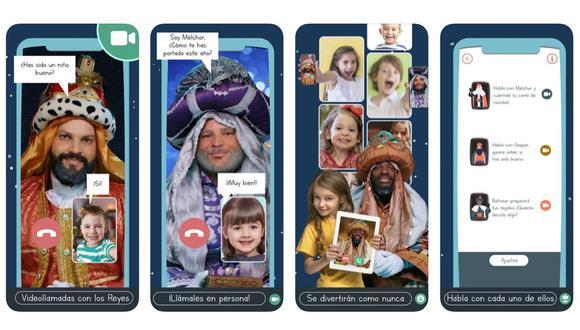 Existen varias aplicaciones para celebrar el Día de Reyes sin exponernos al contagio. (Foto: captura de App Store)