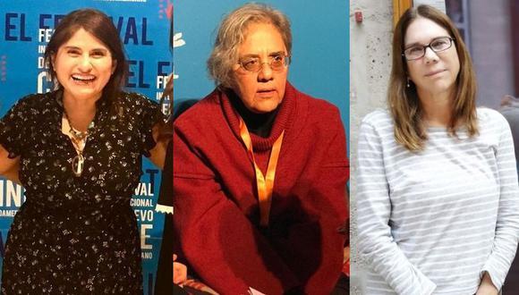 Melina León, Mary Jiménez y Patricia Wiese presentes en el Cinefórum de la Biblioteca Nacional del Perú. (Foto: Instagram/Festival de Cine de Lima)