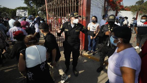 Ministro del Interior informó la manera que se viene monitoreando la seguridad en comicios mediante sistema informático de la PNP. (Foto: Diana Marcelo / El Comercio)