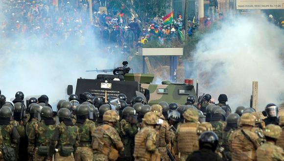 En Bolivia, las protestas comenzaron el 20 de octubre a raíz de la discutible reelección de Evo Morales. (AFP).