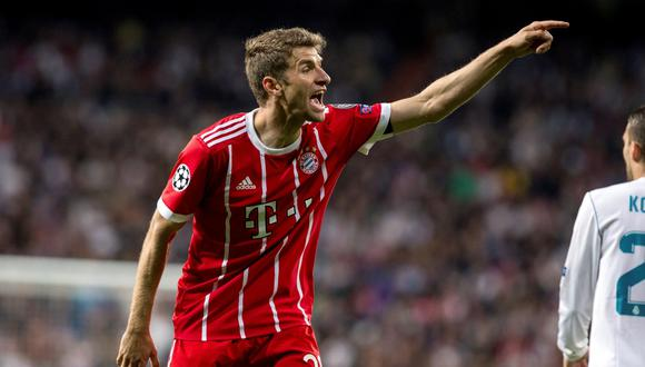 Thomas Müller se refirió a la eliminación del Bayern Múnich ante Real Madrid en la Champions League. (Foto: EFE)