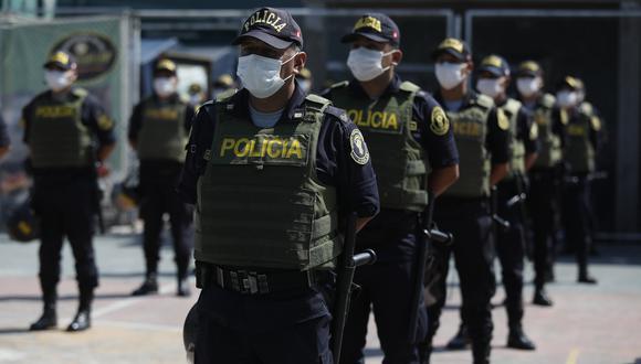Agentes de la Policía Nacional patrullarán las calles durante Fiestas Patrias. (Foto: DIana Marcelo/GEC)