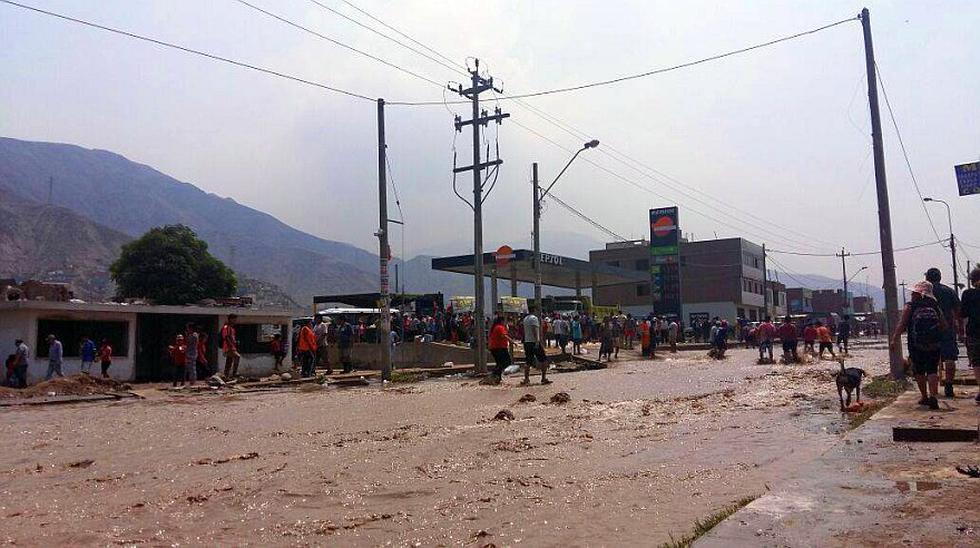 Nuevo desborde golpeó a vecinos de Carapongo y Huachipa [FOTOS] - 2