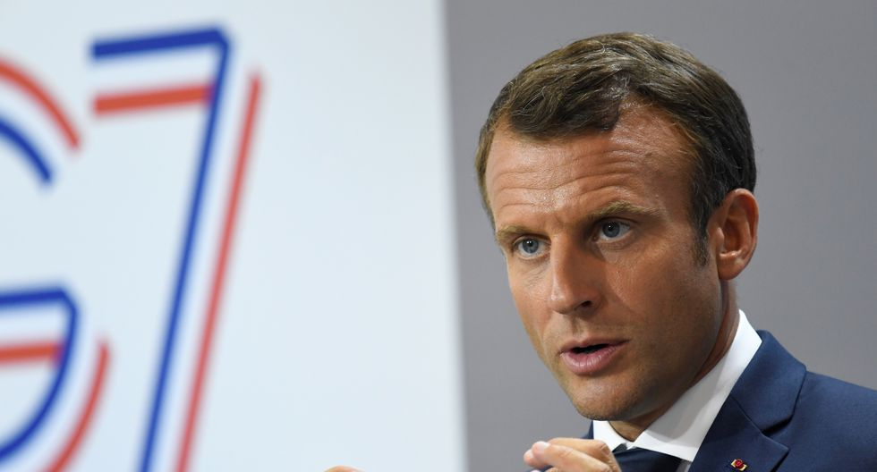 """Macron dijo que el suyo es un país soberano, pero cuando hay un acontecimiento """"aceptamos la solidaridad internacional"""". Foto: AFP"""
