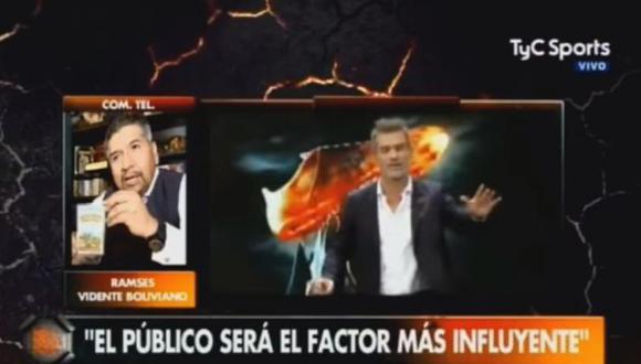 El panel de 'TyC Sports' se comunicó con un adivino boliviano para consultarle sobre el duelo entre Argentina y Perú. El clarividente señaló que el marcador tendrá tres goles. (Foto: captura de video)