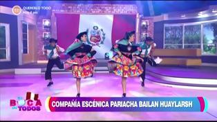 Tula Rodríguez rinde homenaje al Perú bailando huayno