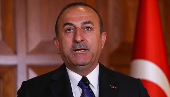 """""""Cisjordania es territorio palestino ocupado por Israel en violación del derecho internacional"""", dijo el ministro de Relaciones Exteriores turco, Mevlüt Çavuşoğlu. (AFP)."""