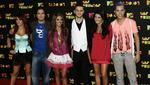 La banda mexicana RBD llega a la ceremonia de los MTV Latin America 2007 Music Awards realizado el 18 de octubre de 2007 (Foto de Ronaldo Schemidt / AFP)
