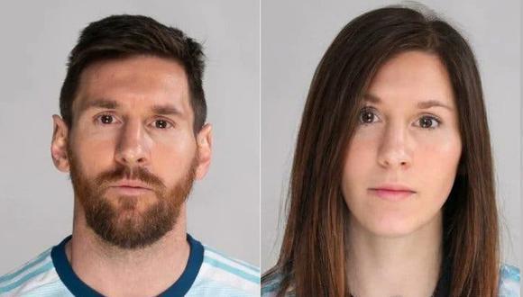 Así se ve Lionel Messi con el filtro de FaceApp. (Imagen: FaceApp)