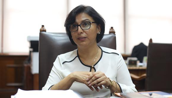 """""""El factor que puede llevar al desenlace fatal en casos de coronavirus se incrementa en un 30% cuando se trata de personas obesas"""", señaló la ministra Cáceres . (Foto: GEC)"""