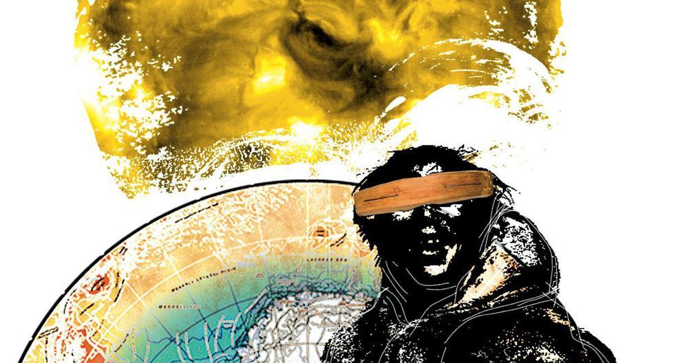 En la Antártida deben usarse anteojos que cumplan muchas más exigencias que las requeridas en latitudes menores: además de ser polarizados, lo cual filtra reflejos, deben tener un tinte que reduce lo menos posible la visión, pero sí la intensidad de la luz y los diferentes rayos ultravioleta. (Ilustración: Raúl Rodríguez)