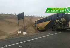 Cañete: 1 muerto y 3 heridos tras choque de bus interprovincial