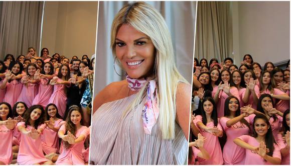 Miss Perú - La Pre: Jessica Newton y las candidatas, durante la conferencia de prensa del evento. Foto: Jessica Vicente/ El Comercio.