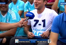 Sporting Cristal vs. Independiente del Valle: hincha celeste recordó 7-1 sobre Alianza Lima con un polo | VIDEO