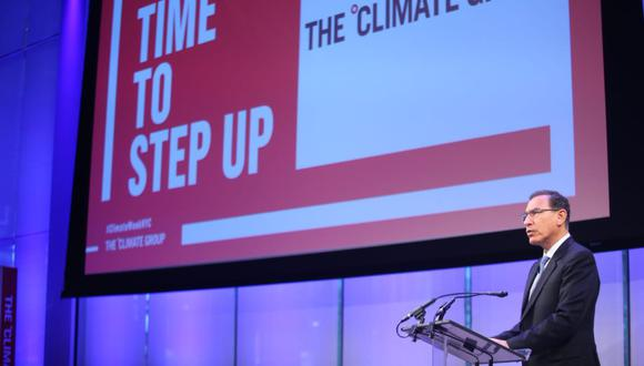 Martín Vizcarra expuso en Nueva Yorkla estrategia ambiental de Perú. (Foto: PCM)