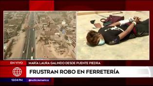 Puente Piedra: Policía frustra asalto a ferretería y captura a delincuente