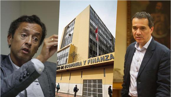 David Tuesta (izquierda) fue ministro en este gobierno. Alonso Segura (derecha) lideró la cartera del mismo sector entre el 2014 y 2016. (Fotos: GEC)