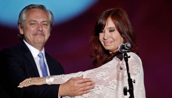 El nuevo presidente de Argentina, Alberto Fernández, y su vicepresidenta Cristina Fernández de Kirchner. (Foto: AFP)