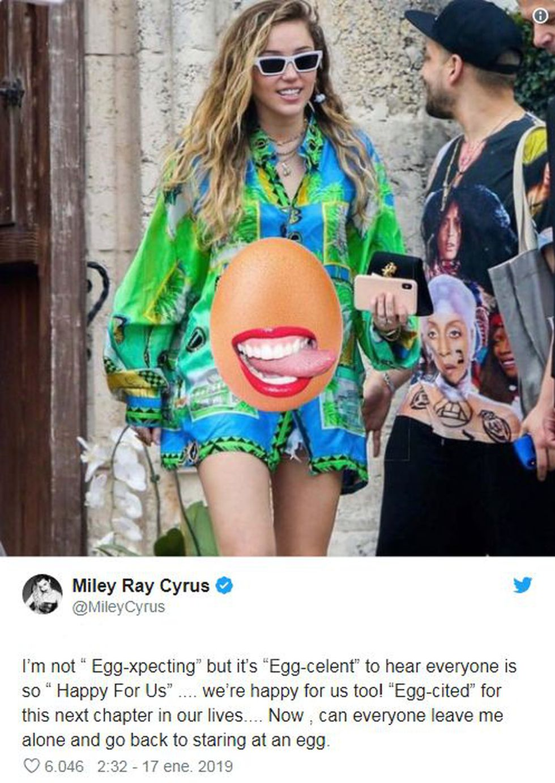 Este es el mensaje de Miley Cyrus en sus redes sociales. (Foto: Twitter)
