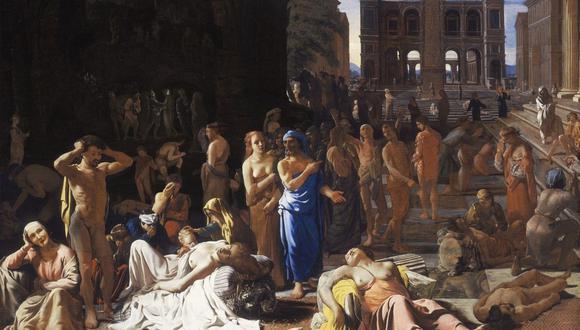 """""""La Peste de Atenas"""" fue pintada por Michiel Sweerts entre 1652–1654. (Foto: LACMA)"""