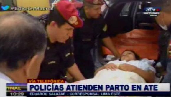 Santa Anita: policías ayudan a dar a luz a mujer en su vivienda