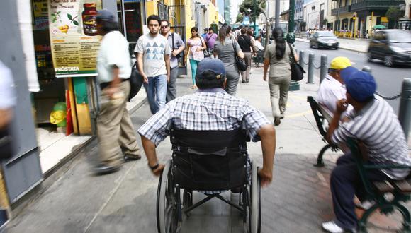 El 77% de las personas con discapacidad, en edad de trabajar, se encuentran inactivas, según el INEI. (Foto: USI)