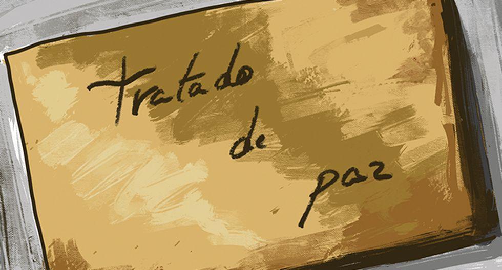 El Tratado de Paz. (Ilustración: Giovanni Tazza)