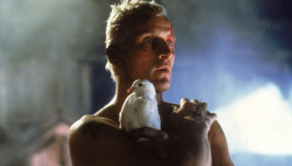Replicante Roy Batty (interpretado por Rutger Hauer) en la película Blade Runner (1982) de Ridley Scott.
