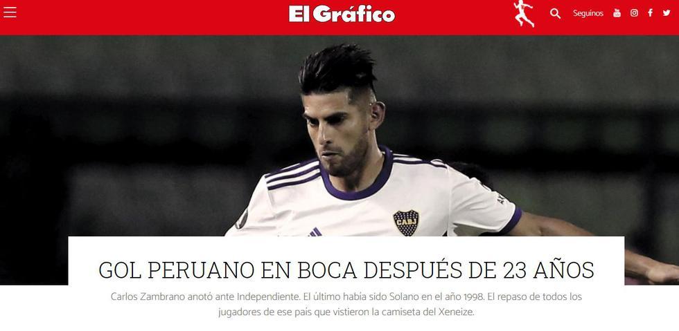 El Gráfico recordó que un peruano volvió a marcar para Boca Juniors luego de 23 años. Solano había sido el último.