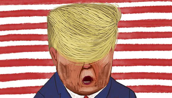 """""""La hegemonía y la unipolaridad global que apuntalaron la política exterior estadounidense tras el fin de la Guerra Fría siempre fueron ilusorias"""". (Ilustración: Víctor Aguilar Rúa)."""