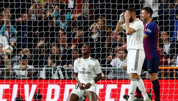 Real Madrid tuvo varias ocasiones claras ante Barcelona, con Vinicius Júnior como principal protagonista, pero careció de contundencia. Al final, fue goleado 3-0 en el Santiago Bernabéu. (Foto: Reuters)