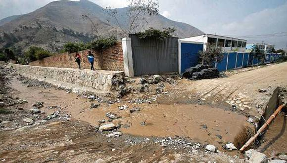 Chosica: hay 27 colegios en riesgo por caída de huaicos