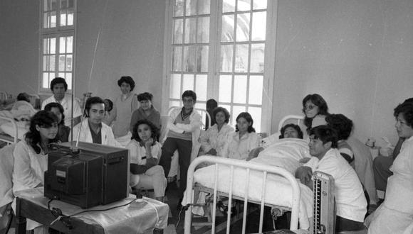 Así fue la mañana en Lima, el 15 de junio de 1982. Hospitales, clínicas, negocios paralizados por el partido debut de la selección peruana contra Camerún, por el Mundial de España. FOTO: Archivo Histórico El Comercio.
