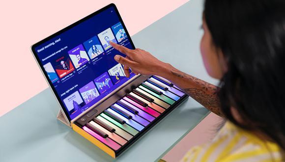 LUMI Keys 1 de Roli ganó en la categoría Periféricos para computadora y accesorios. (Foto: CES Tech)