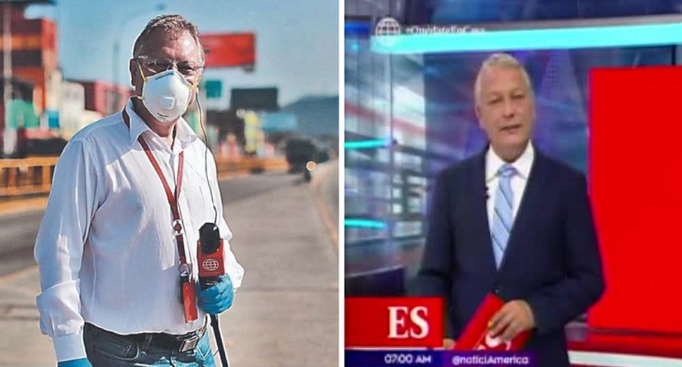 """Gunter Rave deja la calle y aparece conduciendo """"América Noticias: Edición del Sábado"""". (Foto: Instagram)"""