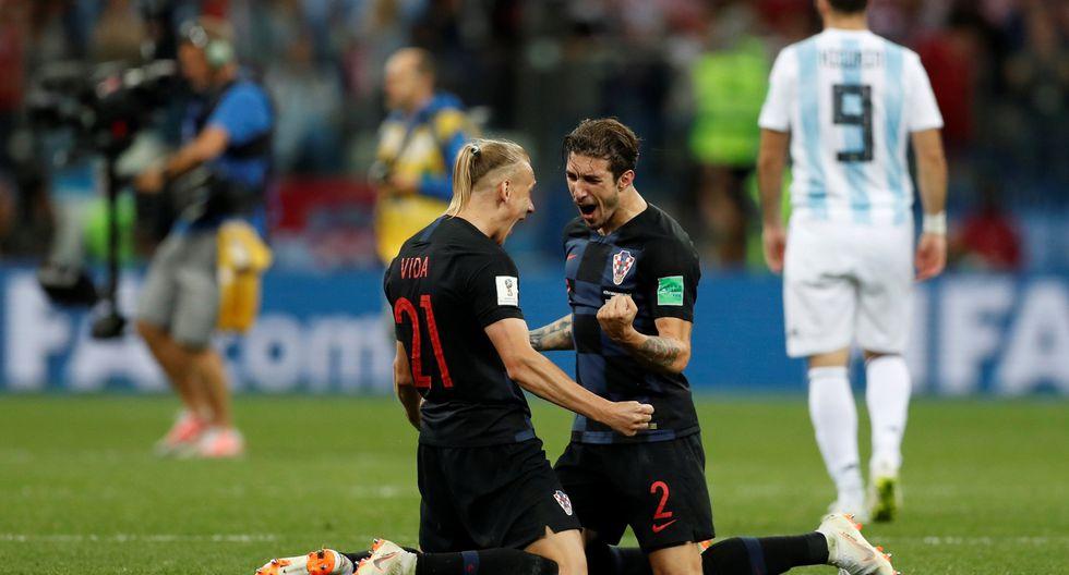 Argentina, sin ideas ni propuesta clara de juego, fue superada ampliamente por la selección de Croacia que golpeó en los momentos clave. (Foto: Reuters)