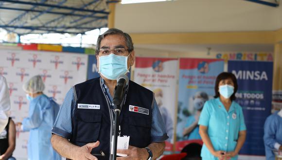 El ministro de Salud recordó que existe un cronograma de entrega de vacunas y que todos los contratos ya han sido suscritos y pagados. (Foto: El Comercio)