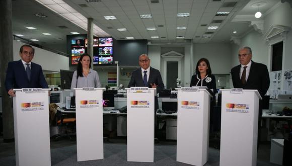 Alejandra Aramayo, Jorge del Castillo, Marisa Glave y Gino Costa participan en la convocatoria. (Foto: Alonso Chero)