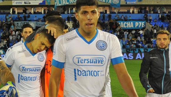 Belgrano cierra el 2017 en la séptima casilla de la Superliga Argentina. El peruano Hansell Riojas apenas disputó cinco partidos con el conjunto 'pirata'. (Foto: Web Belgrano)