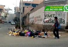 VMT: vecinos ignoran prohibición y siguen contaminando calles