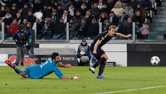 Harry Kane venció a Buffon y marcó el descuento del Tottenham ante Juventus. (Foto: Reuters)