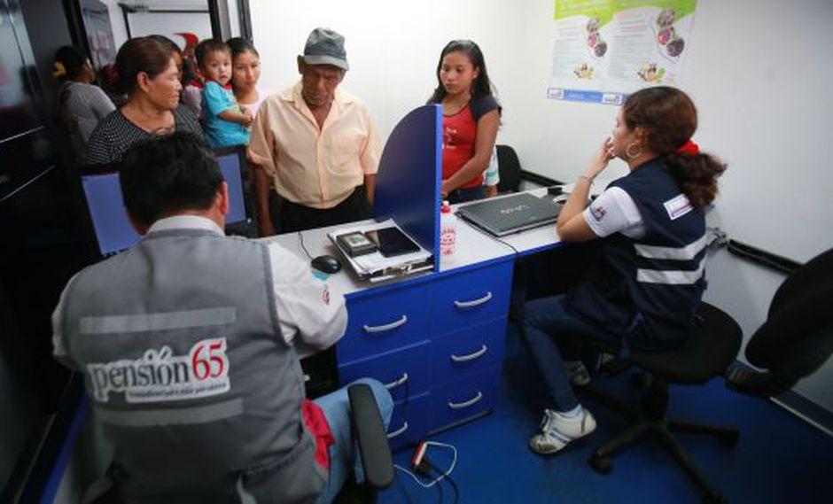 Detectan a 113 fallecidos inscritos en el programa Pensión 65