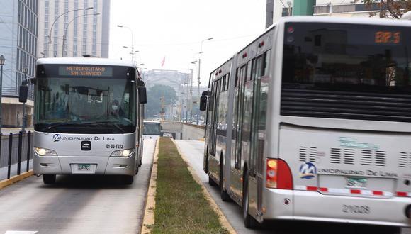 Los concesionarios del Metropolitano advirtieron que suspenderían el servicio. (Foto: GEC)