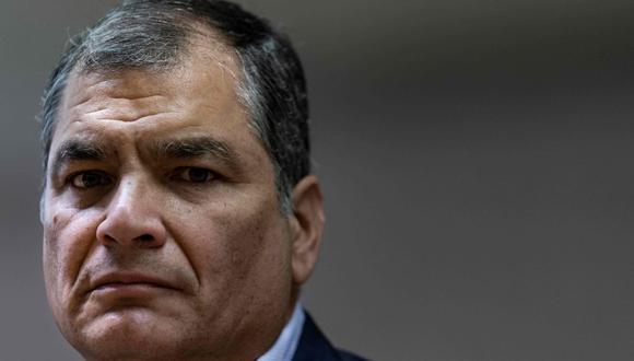 El expresidente Rafael Correa no podrá ser parte de los comicios electorales de Ecuador, que se llevarán a cabo en el 2021. (AFP/Kenzo TRIBOUILLARD).