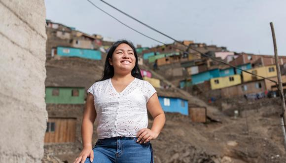 Esther Valencia vive en Comas y desde los 15 años hace trabajo social en su distrito. Ha sido lideresa juvenil en distintas organizaciones (Foto: Omar Lucas).
