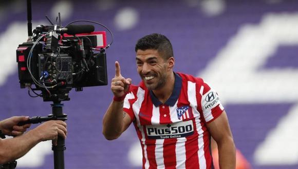 Luis Suárez anotó el 2-1 del Atlético de Madrid vs. Valladolid. (Foto: Agencias)