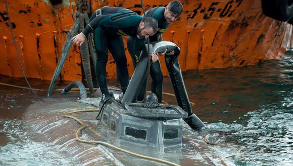 El narcosubmarino que fue interceptado en España con tres toneladas de cocaína provenía de Colombia. (Photo by Lalo R. Villar / AFP).