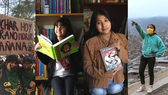 Las adolescentes de GirlGov Perú, Nina Arana, Gabriela Yauri y Marsivit Alejo: nuestras verdaderas chicas superpoderosas.